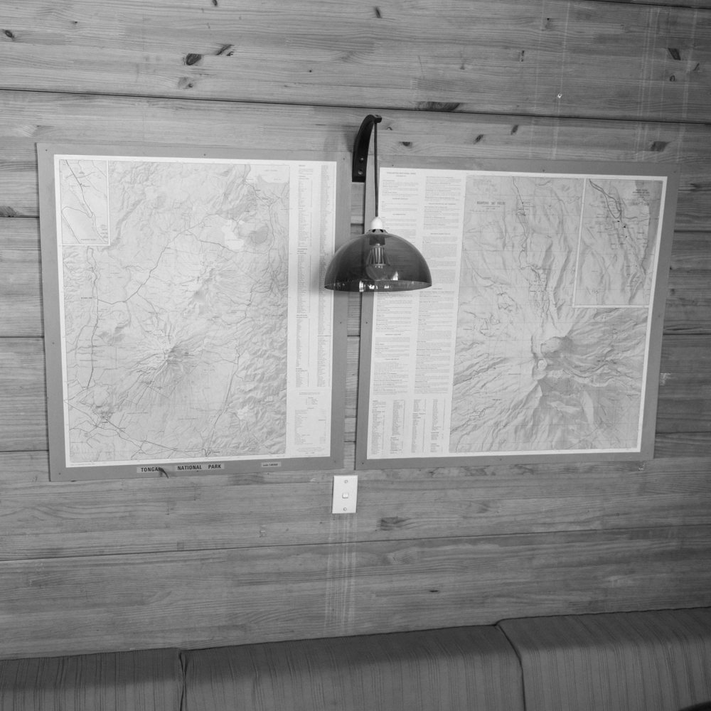 Map wall. Christiania Ski Club Lodge.
